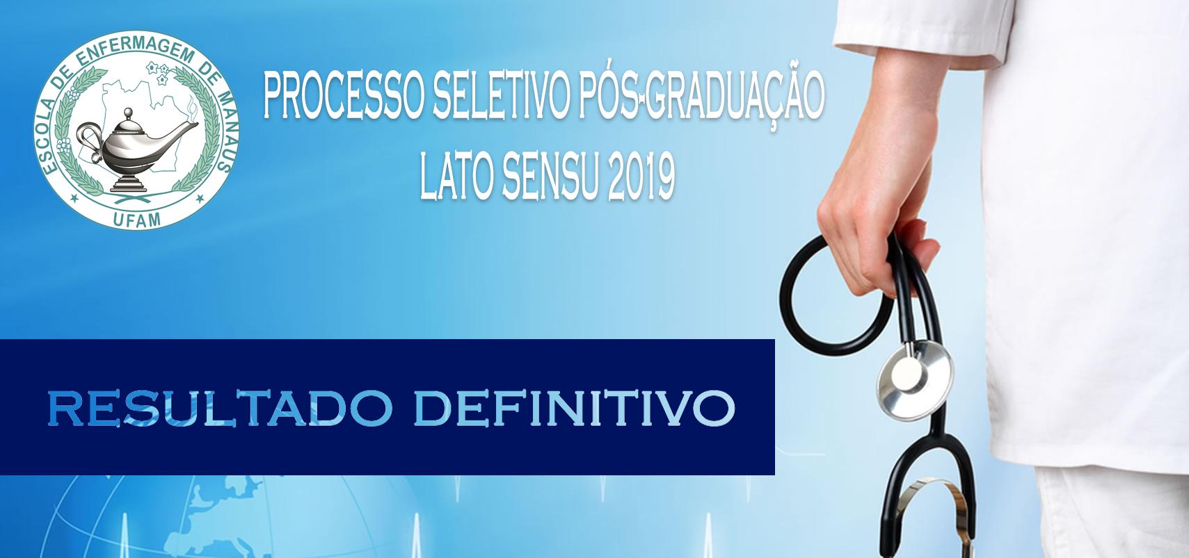 Bolsa Pós Lato Sensu 2019 - Resultado Definitivo